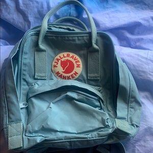 Fjallraven mini kanken backpack light blue